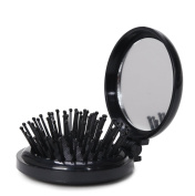 LOUISE MAELYS 1Pcs Folding Mini Pocket Hair Comb with Mirror Travel Set Gift Idea
