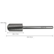 Pana Brand ® Professional SILVER F (FINE) *Smooth Round Top* Large Dome Top Barrel Carbide Bit 0.2cm Shank Size