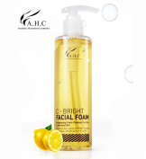 AHC C-Bright Facial Foam 250ml (8.4 oz) Moisture Cleansing for Dried and Sensitive Skin, Brightens Dull, Spotty Skin