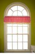 Go Mama Go Go Mama Go Designs Wildthing Window Valance, Pink/tan