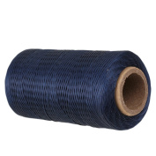 CNBTR 250 Metres 1mm 150D Flat Waxed Leather Thread Cord Sewing Dark Blue