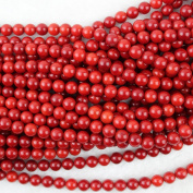 8mm Round Red Coral Beads Loose Gemstone Beads Strand 38cm Jewellery Making Beads