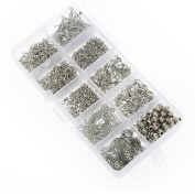 Dophee 1Set Jewellery Making Starter Kits Sliver Plated Pin Bead Caps Pliers Chain Cord Tools