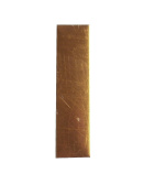 RMP Stamping Blanks, 1.3cm x 5.1cm Rectangle, 470ml Copper (.021) - 10/Pack