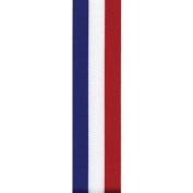 1.6cm Tri-Stripe Grosgrain Ribbon - Red/White/Blue - 100 yards - Berwick Offray