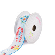 BR & Nameinternal BR & Nameinternal 1 5.1cm Grosgrain Carnival Fun Fair Ribbon, 10 yd, White