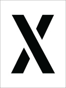 National Marker Corp. PMC8-X Stencil, Letter X, 20cm