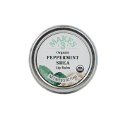 Makes 3 Organic Lip Balm, Peppermint Shea, 15ml