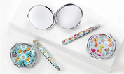 Giftcraft Compact Mirror and Tweezer Set Perfect for Travel Giraffe or Fox 2 Patterns You Select