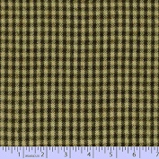 Marcus Fabric Christmas Primo Primo Cotton Flannel Plaid Hunter Tan Cheque