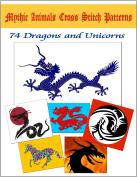 74 Mythical Animals Original Cross Stitch Patterns On A DVD - Unicorns & Dragons