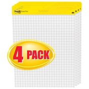 Self-Stick Easel Pads, Quad Rule, 25 x 30, White, 4 30-Sheet Pads/Carton, Sold as 4 Pad