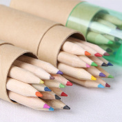 GH8 12-colour Coloured Pencils/ Drawing Pencils for Sketch/Secret Garden Colouring Book(Not Included) Come With Harpener