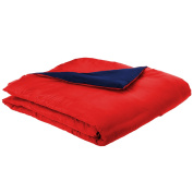 bkb Reversible Toddler Comforter, Red and Navy