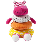 Manhattan Toy Soft Stacker Baby Toy, Pink Hippo