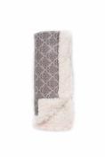 Bella Bundles Damask Luxury Blanket, Grey