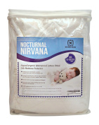 Premium Cotton Crib Mattress Protector by Nocturnal Nirvana