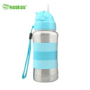 Haakaa 270ml Standard Neck Food Grade #304 Stainless Steel Thermal Straw Bottle