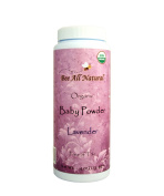 Bee All Natural Organic Baby Powder (Lavender), Talc-Free, 120ml Bottle
