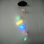 Clear Animal Solar Operated Mobile Wind Spinner Colour Changing Wind Chime Light