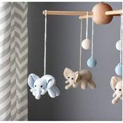 Handmade Elephant & Bubble Baby Mobile