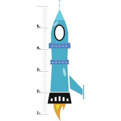 Amazon Custom - Growth Chart Wall Decal -Rocket Ship - 0.6mx1.8m - removable growth chart wall sticker