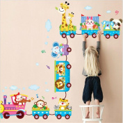 CH Removable Animals On Train Nursery Baby Kids Wall Stickers Home Wall Sticker Quote Art