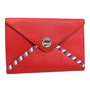 610m Ss Chanel Airlines Red Leather Pouch A82434 Y25399 2B425