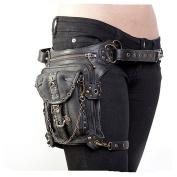 XY Fancy Steampunk Bag Steam Punk Retro Rock Gothic Goth Shoulder Waist Bags Packs Victorian Style for Women Men + Leg Thigh Holster Bag