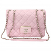 Chanel Pink Sheepskin Leather Chain shoulder Flap bag A93222 Y60545
