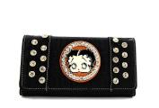 Betty Boop Premium Embossed Tri-fold Wallet