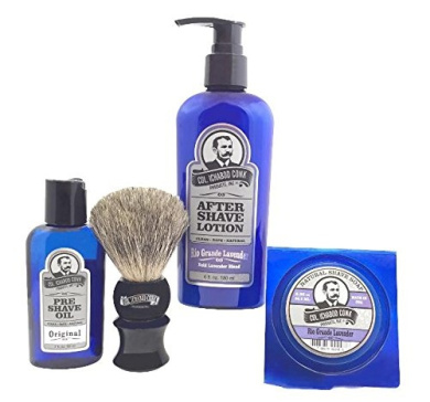 Colonel Conk Model 4020 Rio Grande Lavender 4pc Shave Kit with Soap