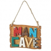"8.9cm Multi-Coloured ""Man Cave"" Christmas Plaque Ornament"