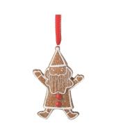 14cm Gingerbread Kisses Sugared Cookie Santa Christmas Ornament