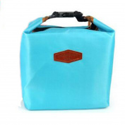 Thermal Cooler Insulated Waterproof Lunch Carry Storage Picnic Bag Pouch lunch box bag Light Blue