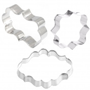 Gooday 3pcs Cookies Pastry Fondant Cake Sugarcraft Decorating Mould Frame Cutter Tool