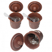 Genenic 3PCS. Pod Reusable Stainless Mesh Capsule Coffee Filter Single Cup Solo