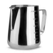 VivReal Stainless Steel Milk Frothing Pitcher, 600ML Espresso Coffee Latte Pitcher with Scales
