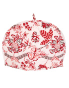 Vintage Cotton White Tea Cosy Hand Block Printed Floral By Rajrang