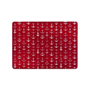 Harman PVC Placemat 33cm x 46cm Anchors Clear on Red