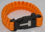 Paracord Survival Gear Bracelet, With Flint Fire Starter and Whistle for Emergencies, Cool Colours That Look Great.
