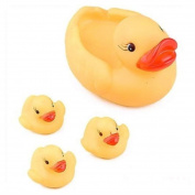 Baby Bathing Developmental Toys Squeaky Rubber Ducks Water Floating Yellow
