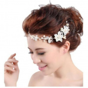 GUAngqi Women's Wedding Flower Chain Jewellery Beauty Crystal Headband Fashion Hair