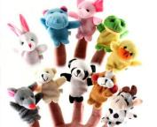 10Pcs Animal Finger Puppet Soft Plush Baby Educational Hand Cartoon Toys Pop UKS
