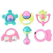 6Stk Baby Kinder Rassel Handbells Bettglocken Frühkindliche Bildung Spielzeug FS