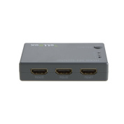 VeLLBox HDMI Switcher 3x1 with IR Remote Control, 3 In 1 Out, 3-port Switcher Support Resolution up to 1080p, Grey