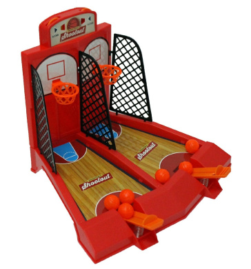 One or Two Player Desktop Basketball Game Best Classic Arcade Games Basket Ball Shootout Table Top Shooting Fun Activity Toy For Kids Adults Sports Fans - Helps Reduce Stress - by Perfect Life Ideas