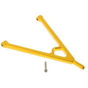 Gold Aluminium Upgrade Parts Chassis Linkage Y-Link Tree Front Bracket Links for 1/10