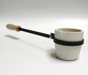 MELTING CRUCIBLE WITH HANDLE 1180ml CUP TYPE CRUCIBLE & HOLDER MELT GOLD SILVER