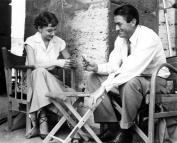 Audrey Hepburn Gregory Peck Behind the Scenes on Roman Holliday 8x10 Photo